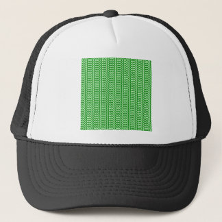V and H Simple Zigzag - Offwhitegreen and Green Trucker Hat