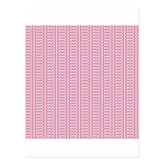 V and H Simple Zigzag - Pink Lace and Puce Postcard