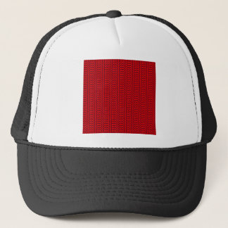V and H Simple Zigzag - Red and Dark Scarlet Trucker Hat