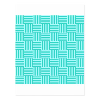 V and H Stripes - Celeste and Turquoise Postcard