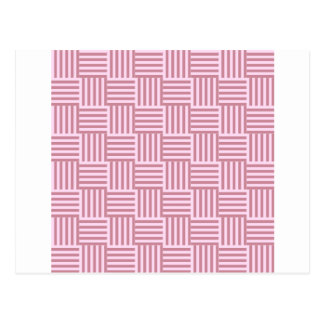V and H Stripes - Pink Lace and Puce Postcard
