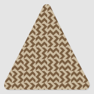 V and H Wide Zigzag - Khaki and Dark Brown Stickers