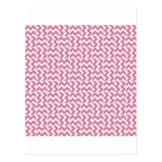 V and H Wide Zigzag - Pink Lace and Puce Postcard