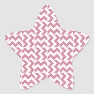 V and H Wide Zigzag - Pink Lace and Puce Star Sticker