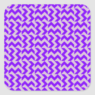 V and H Wide Zigzag - Thistle and Violet Square Sticker