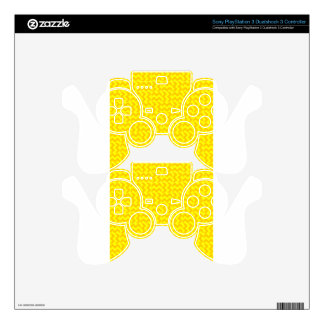 V and H Wide Zigzag - Yellow and Tangerine Yellow PS3 Controller Decal