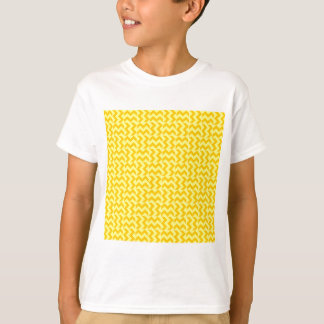 V and H Wide Zigzag - Yellow and Tangerine Yellow T-Shirt