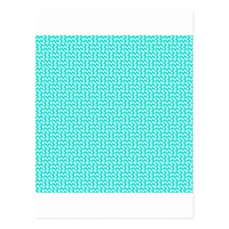 V and H Zigzag - Celeste and Turquoise Postcard