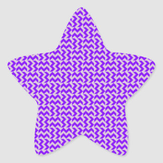 V and H Zigzag - Thistle and Violet Star Sticker