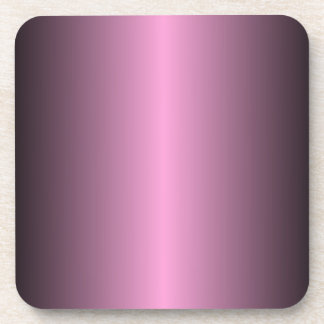 V Bi-Linear Gradient - Black and Pink Beverage Coaster