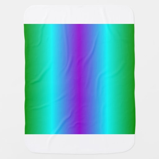 V Bi-Linear Gradient - Green, Cyan, Violet Baby Blanket