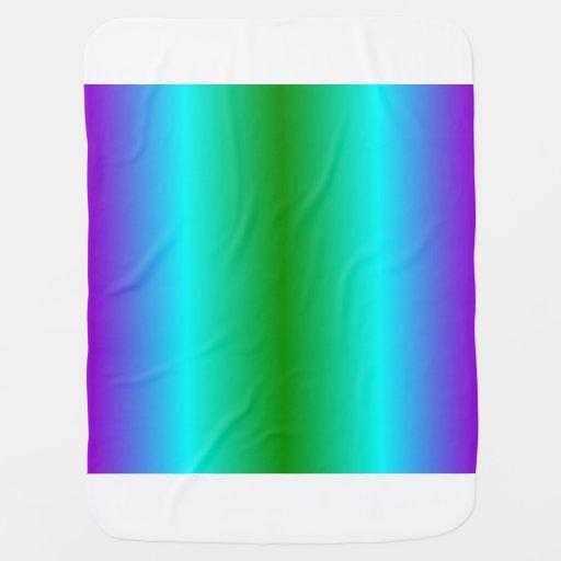 V Bi-Linear Gradient - Violet, Cyan, Green Swaddle Blankets