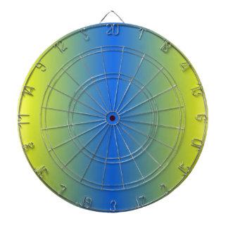V Bi-Linear Gradient - Yellow to Blue Dart Board