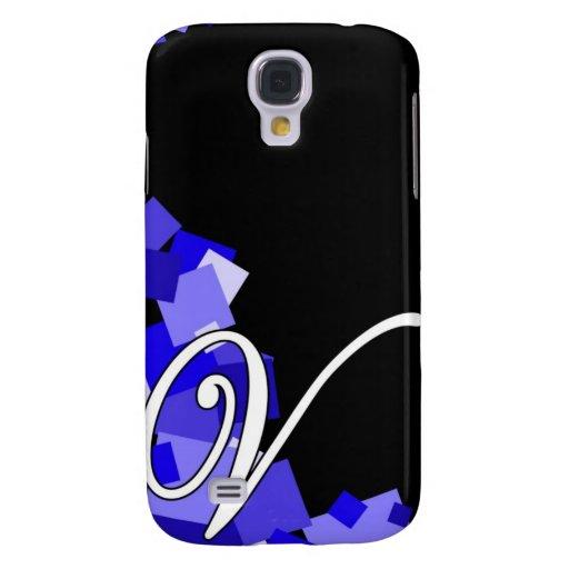 V blue on black samsung galaxy s4 cases