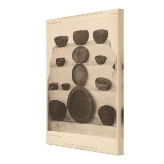 V buques de piedra, tan California Impresión En Tela