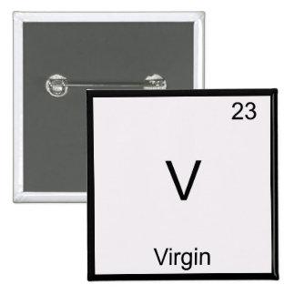 V - Camiseta divertida del símbolo del elemento de Pin Cuadrado