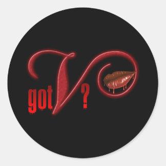 V conseguidos - Sangre del vampiro Pegatinas Redondas