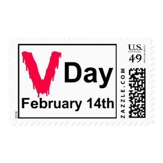V-Day Anti-Valentine Postage Stamps