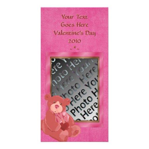 V-Day Teddy Bear Photo Card