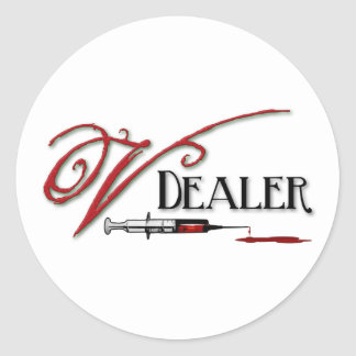 V Dealer - Vampire Blood Classic Round Sticker