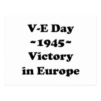 V-E Day - Victory in Europe Day (VE Day) Postcard