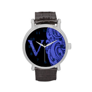 V - El alfabeto de Falck (azul) Relojes De Pulsera