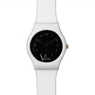 V - El alfabeto de Falck (plateado) Relojes De Mano