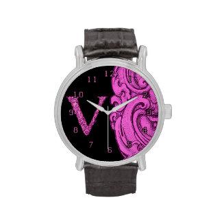 V - El alfabeto de Falck (rosa) Reloj