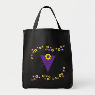 V en tote púrpura del monograma de Flores Bolsas