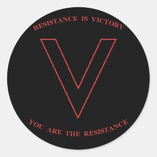 V está para el pegatina de la victoria