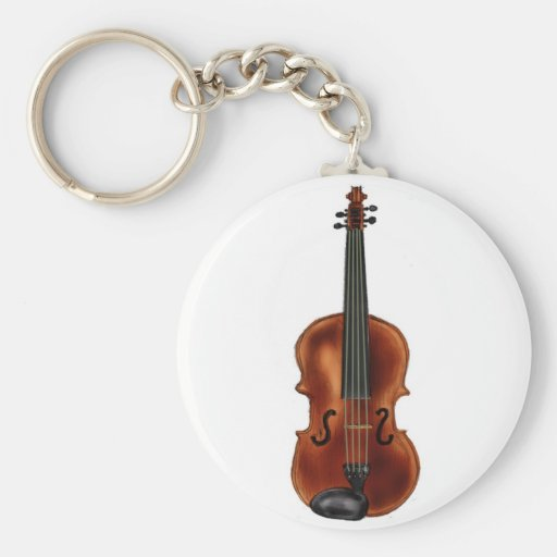 V está para el violín llavero
