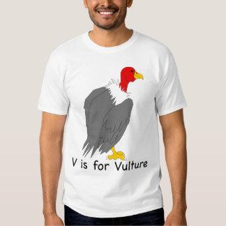 V está para la camiseta del buitre camisas