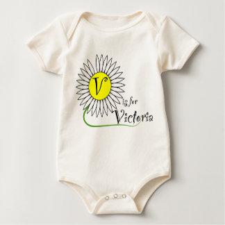 V está para la margarita de Victoria Body Para Bebé