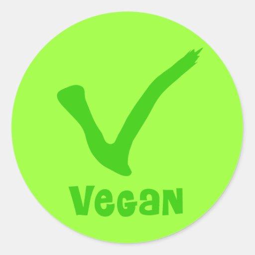 V está para los pegatinas del vegano