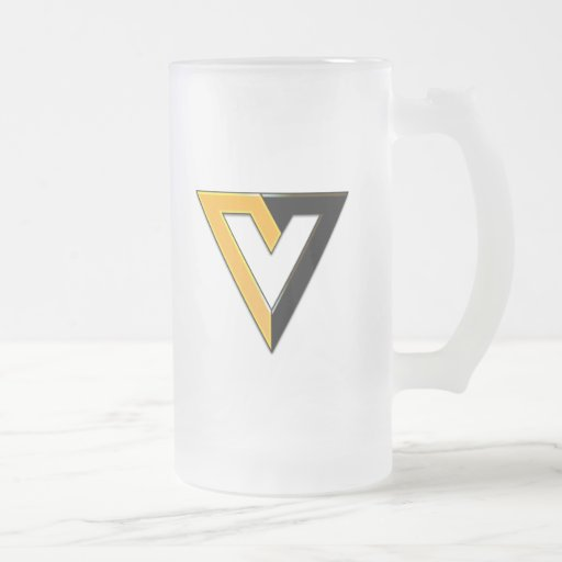 V está para normal voluntario/grabado en relieve tazas