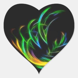 V Flame Heart Sticker