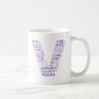 V for vagina victory in Michigan Coffee Mugs
