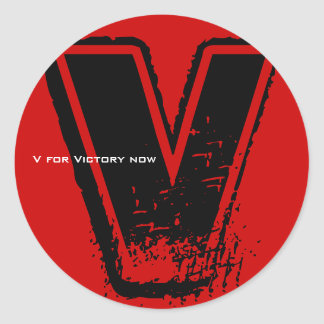 V For Victory Sticker 6