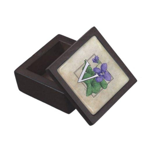 V Is For Violet V for Violet Flower Mo...