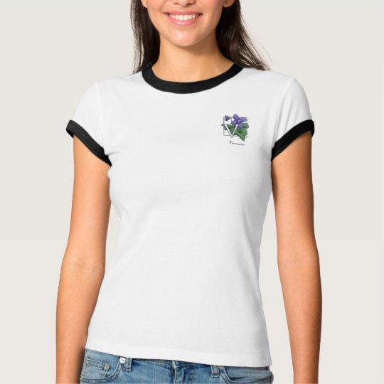 V for Violets Flower Monogram T-Shirt