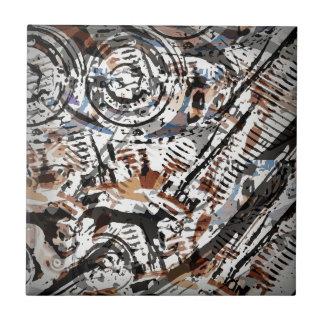 V-Gemelo abstracto reverso Azulejo Cuadrado Pequeño