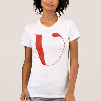 V grande: Jeanne Moderno Lettres Camiseta