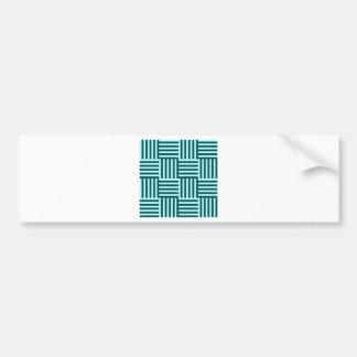 V&H Broad Stripes - Celeste and Deep Jungle Green Car Bumper Sticker
