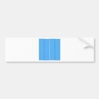 V&H Simple Broad Stripes - Blizzard Blue and Azure Bumper Sticker