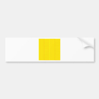 V&H Simple Broad Stripes - Yellow and Tangerine Bumper Sticker