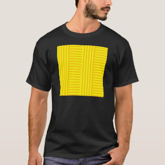 V&H Simple Broad Stripes - Yellow and Tangerine T-Shirt