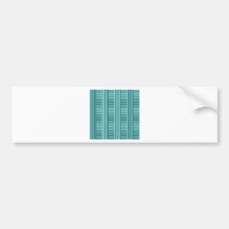 V&H Simple Stripes - Celeste and Deep Jungle Green Car Bumper Sticker