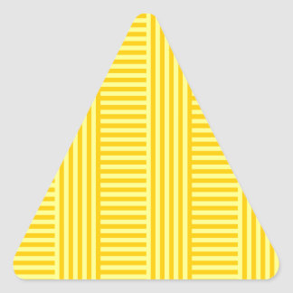 V&H Simple Stripes - Yellow and Tangerine Yellow Triangle Sticker