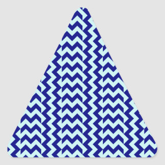 V&H Simple Wide Zigzag-Pale Blue and Navy Blue Triangle Sticker