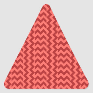 V&H Simple Wide Zigzag - Pastel Red and Firebrick Stickers